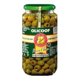 Zelené olivy bez pecky Olicoop - velké sklo 935g/455g